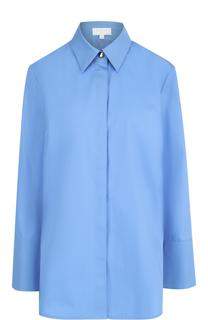 Удлиненная хлопковая блуза свободного кроя Escada Sport