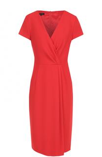 Платье с драпировкой и V-образным вырезом Escada