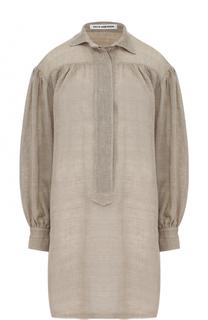 Льняная удлиненная блуза свободного кроя Walk of Shame