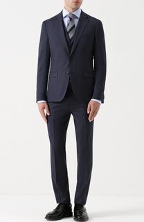 Шерстяной приталенный костюм-тройка HUGO