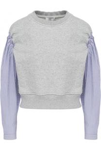 Укороченный пуловер с рукавами в полоску 3.1 Phillip Lim