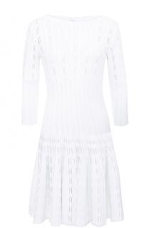 Вязаное мини-платье с укороченным рукавом Alaia