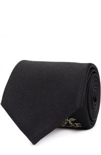 Шелковый галстук с вышивкой Alexander McQueen