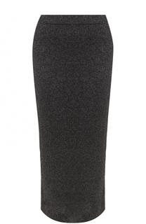 Вязаная юбка-карандаш с металлизированной отделкой Escada