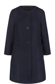 Приталенное пальто с укороченными рукавами Escada