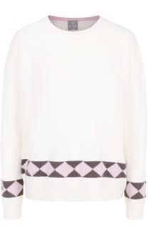 Кашемировый пуловер со спущенным рукавом FTC