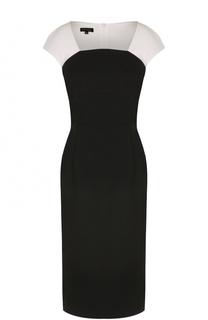 Приталенное платье с квадратным вырезом Escada