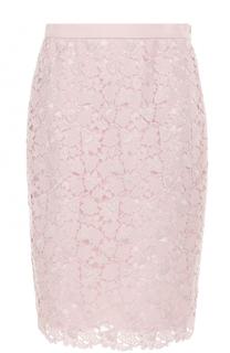 Кружевная юбка-миди с широким поясом Escada
