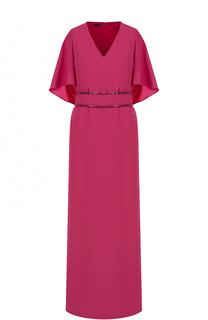 Приталенное платье-макси с высокими разрезами Escada
