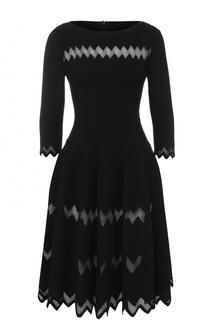 Вязаное платье-миди с укороченным рукавом Alaia