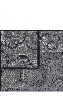 Шелковый платок с узором Brioni