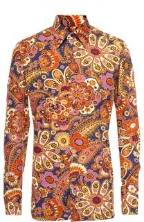 Хлопковая рубашка с итальянским воротником Tom Ford