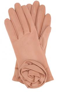 Кожаные перчатки с декором Agnelle