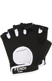 Перчатки с застежкой велькро с логотипом бренда Fendi