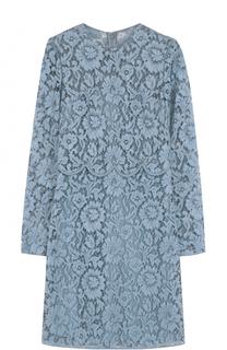 Кружевное мини-платье с длинным рукавом Valentino