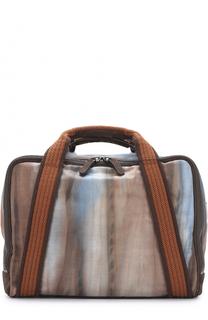 Текстильная дорожная сумка с принтом Giorgio Armani