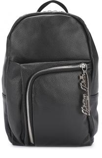 Кожаный рюкзак с внешним карманом на молнии Philipp Plein