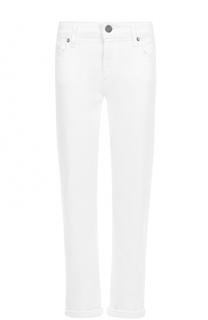 Укороченные джинсы прямого кроя с отворотами Paige