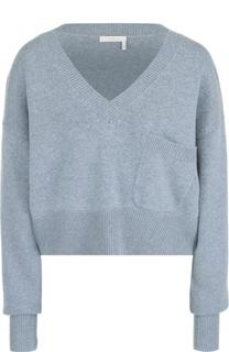 Укороченный пуловер свободного кроя с V-образным вырезом Chloé