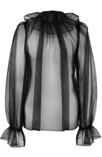 Прозрачный топ с оборками Dolce & Gabbana
