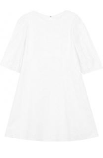 Кружевное мини-платье с укороченным рукавом Chloé