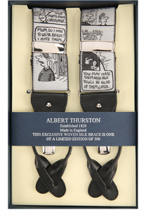 Подтяжки с отделкой из натуральной кожи Albert Thurston