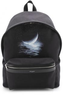 Текстильный рюкзак City с принтом Saint Laurent