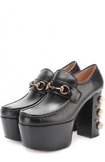 Туфли Vegas на платформе и каблуке с декором Gucci