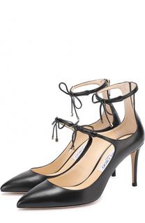 Кожаные туфли Sage 85 на шпильке Jimmy Choo