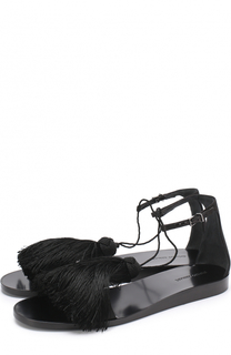Текстильные сандалии с бахромой Giorgio Armani