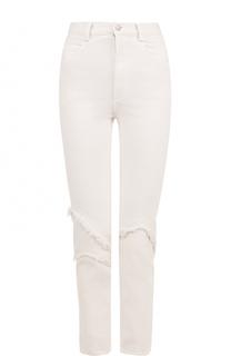 Укороченные джинсы прямого кроя с бахромой Rachel Comey