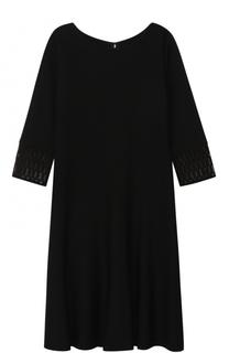 Приталенное платье-миди с укороченным рукавом St. John