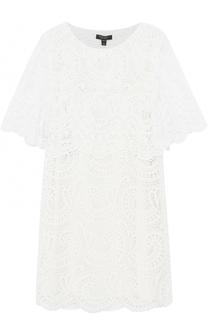 Кружевное мини-платье с круглым вырезом Burberry