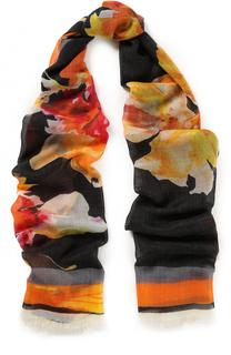Кашемировый шарф с принтом Lanvin