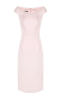 Приталенное платье с вырезом-лодочка Escada