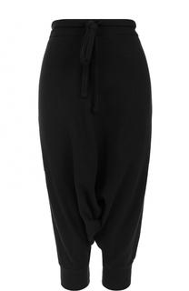 Укороченные брюки с заниженным шаговым швом Yohji Yamamoto