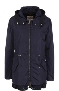 Приталенная куртка на молнии с капюшоном Moncler
