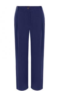 Льняные широкие брюки с защипами Erika Cavallini