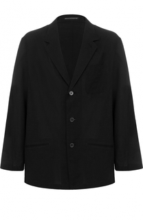 Однобортный хлопковый пиджак свободного кроя Yohji Yamamoto