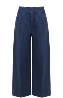 Укороченные широкие джинсы с защипами Marni