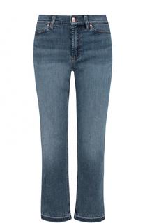 Укороченные расклешенные брюки с потертостями Escada Sport