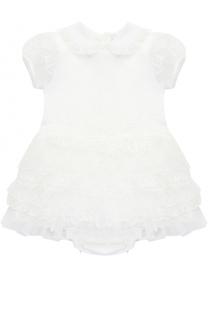 Хлопковый комплект из платья с кружевной отделкой и трусов Aletta