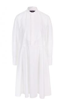 Платье-рубашка с воротником-стойкой Yohji Yamamoto