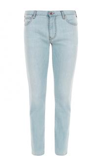 Джинсы прямого кроя с контрастной прострочкой Armani Jeans