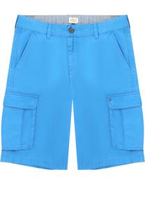 Хлопковые шорты с накладными карманами Giorgio Armani