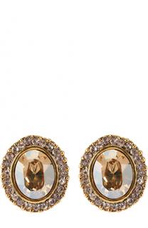 Серьги с кристаллами Swarovski Oscar de la Renta