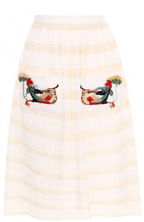 Юбка-миди с вышивкой Stella Jean