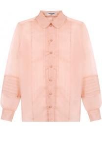 Шелковая блуза прямого кроя Valentino