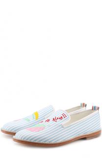 Кожаные слиперы с вышивкой Mira Mikati