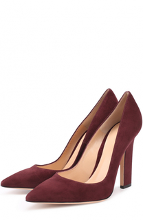 Замшевые туфли с зауженным мысом Gianvito Rossi